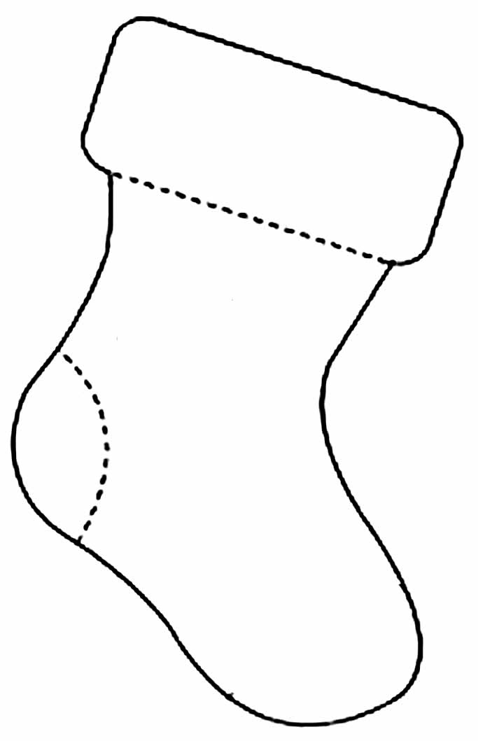 Santa Claus boot template