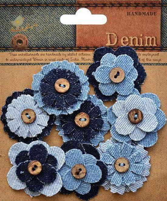 flower with jeans
