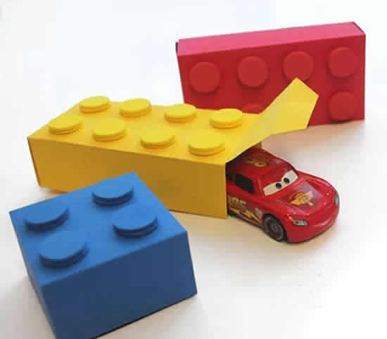 Paper Lego Boxes