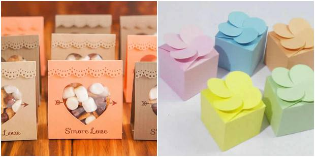 Favor with simple paper with molds