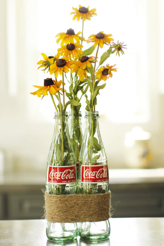 Vase with bottle