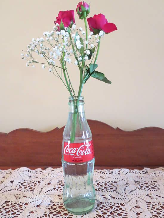 Arrangement in a bottle