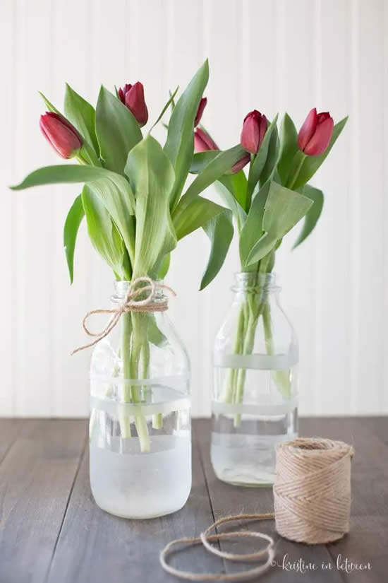 Recycle bottles and decorate in style