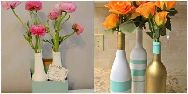Flower Arrangements in Bottles