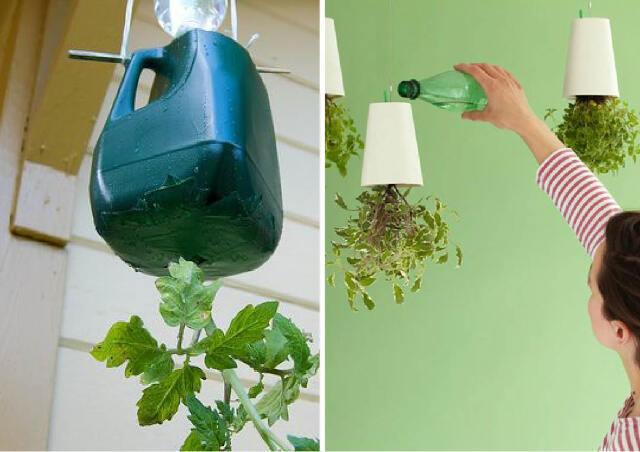 inverted upside-down vase