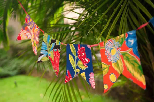 Fabric flags for St. John