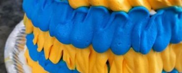 Blue and Yellow Decorated Cake Ideas