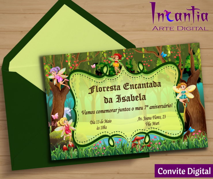 Invitation Ideas for the Enchanted Forest Party
