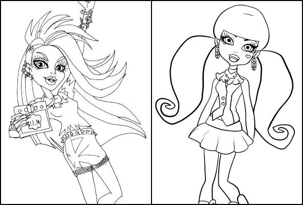 Monster High coloring page