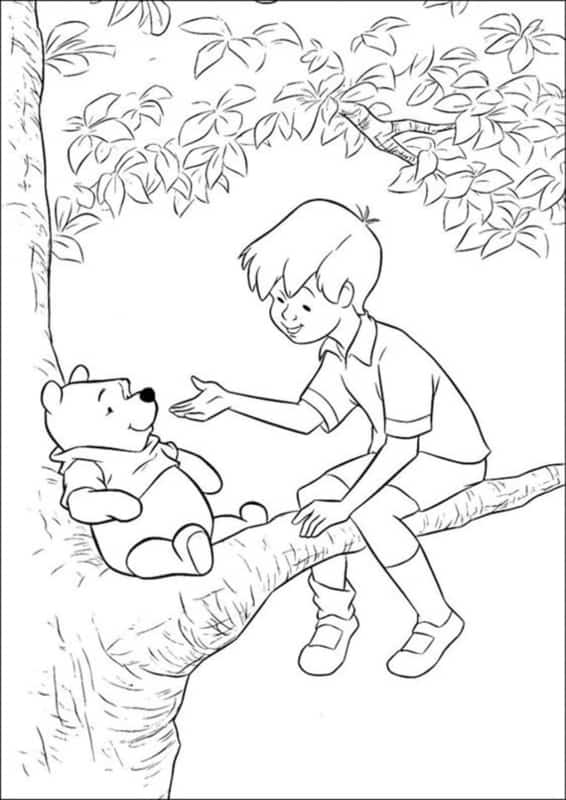 teddy pooh with christopher robin
