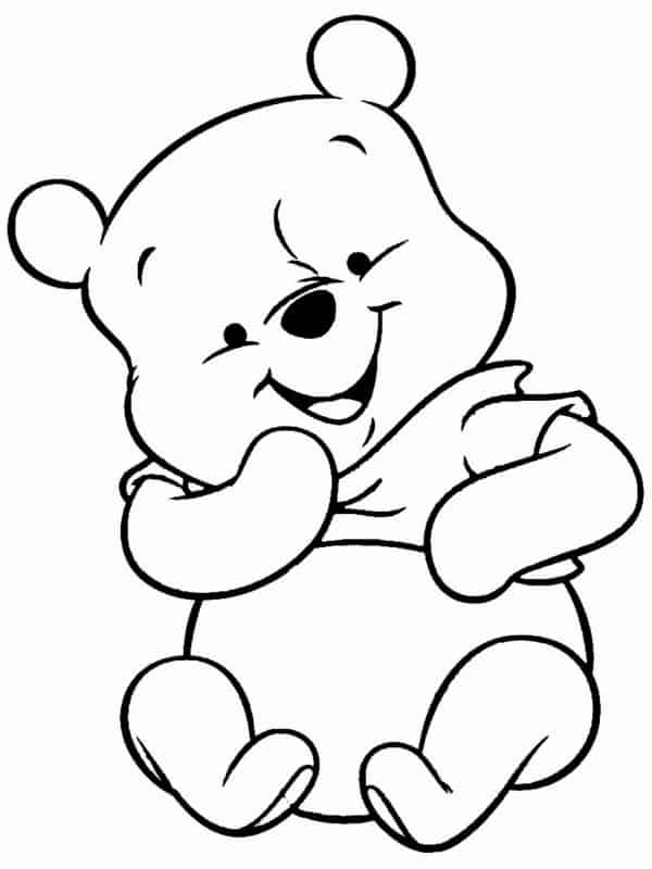 baby pooh bear coloring