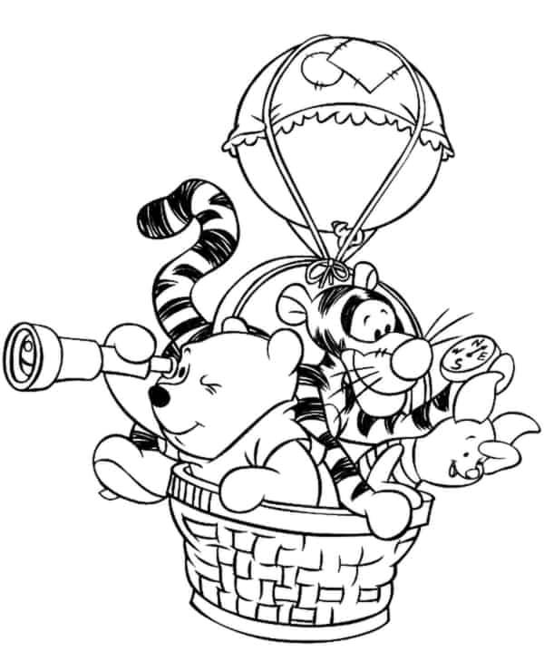 pooh teddy bear gang on the balao