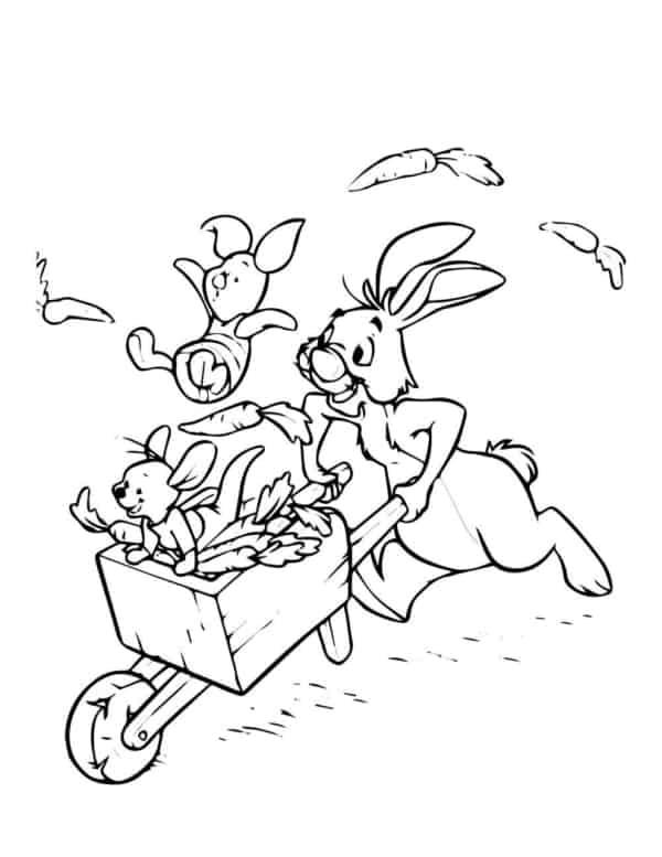 guru piglet and abel coloring page