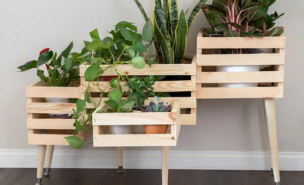 Beautiful decoration with wooden box
