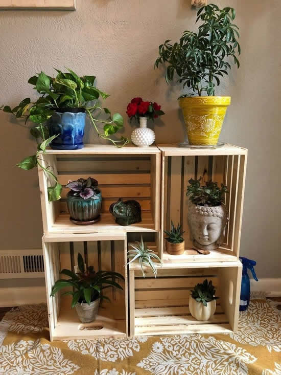 beautiful wooden crates