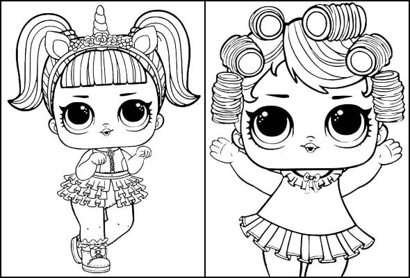 LOL Doll drawings for printing and coloring
