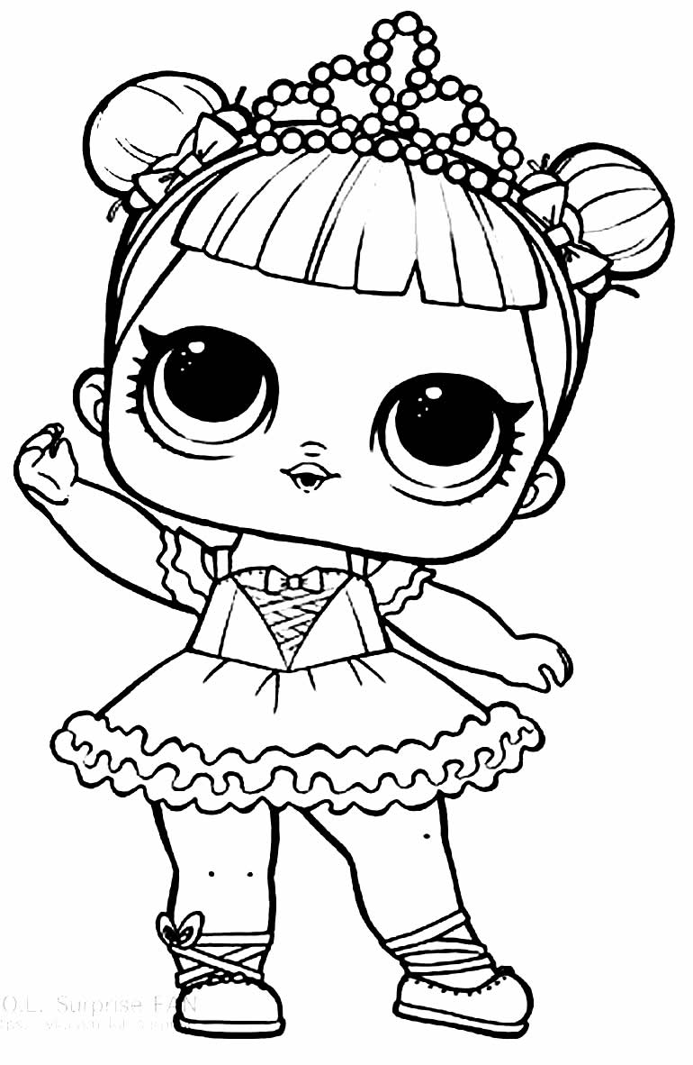 LOL Doll Drawing for coloring