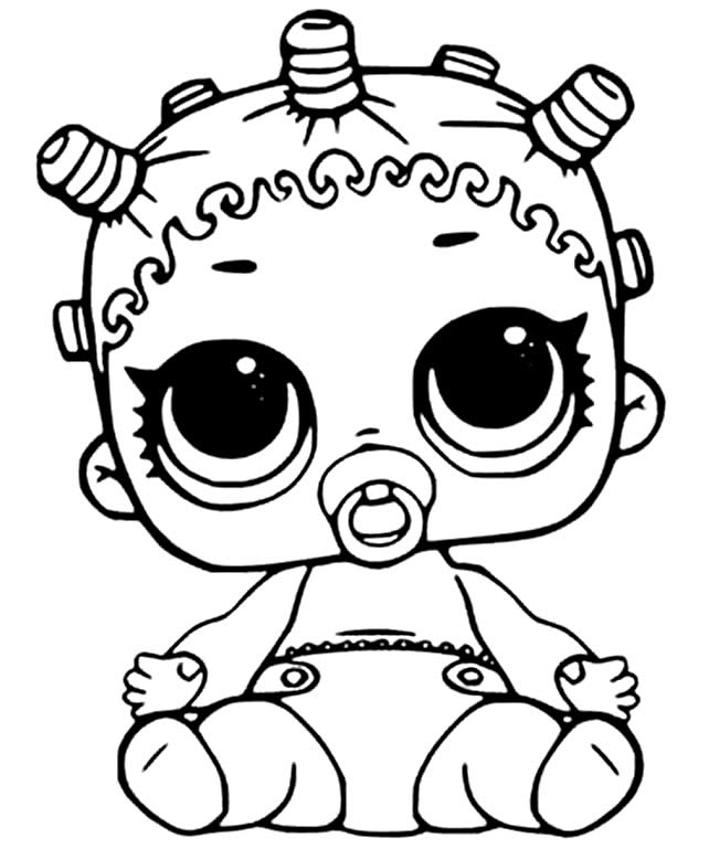 beautiful drawing of LOL baby