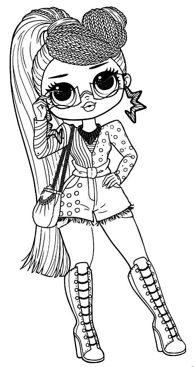 LOL Teen Doll coloring page drawing