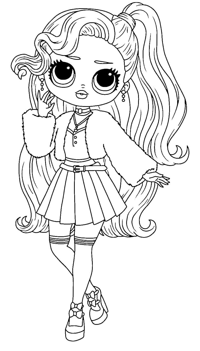 Teenage LOL Doll Drawing to paint