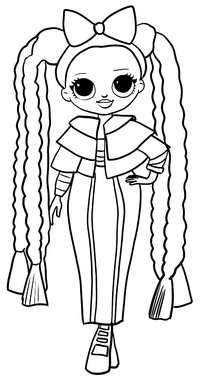 Teenage LOL Doll Drawing for coloring