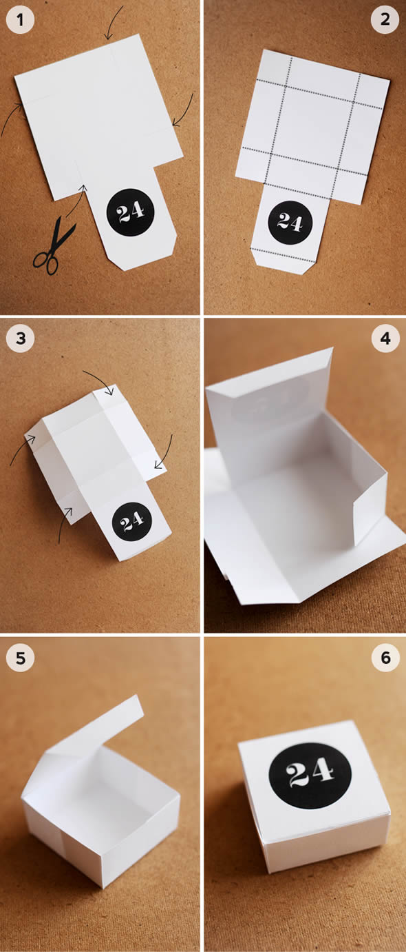 Father's Day Paper Box with Molds
