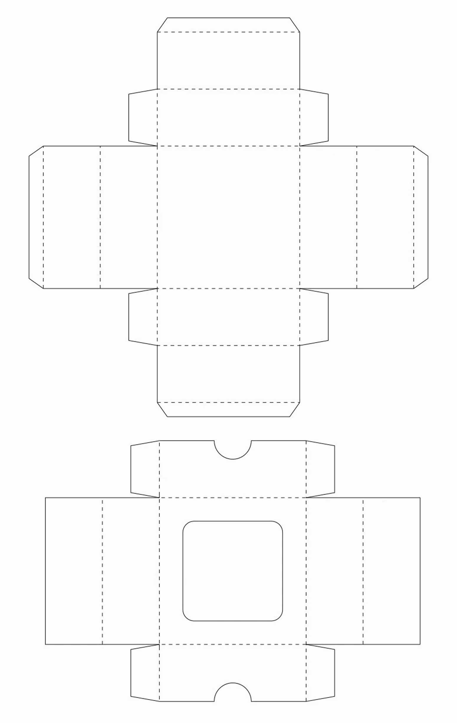 Paper box template for Father's Day