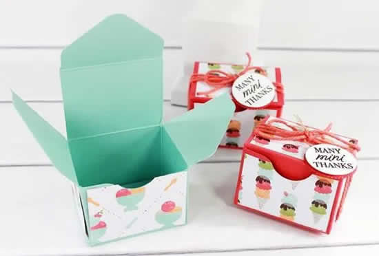 Paper box for wrapping and packaging