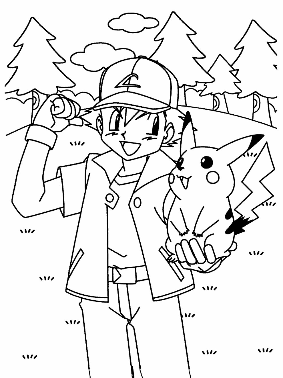 Pokemon drawing to color