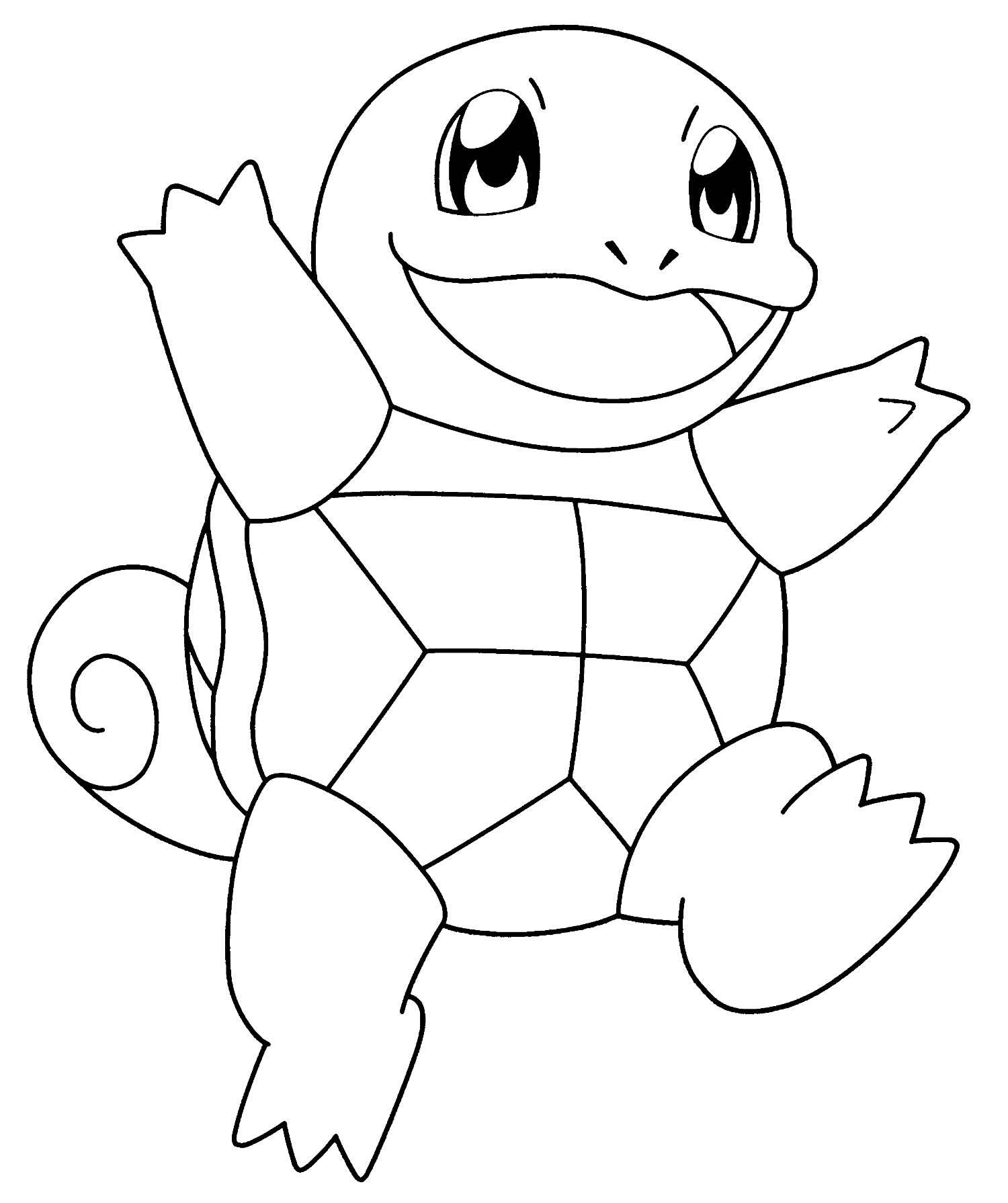 Pokémon drawing to paint