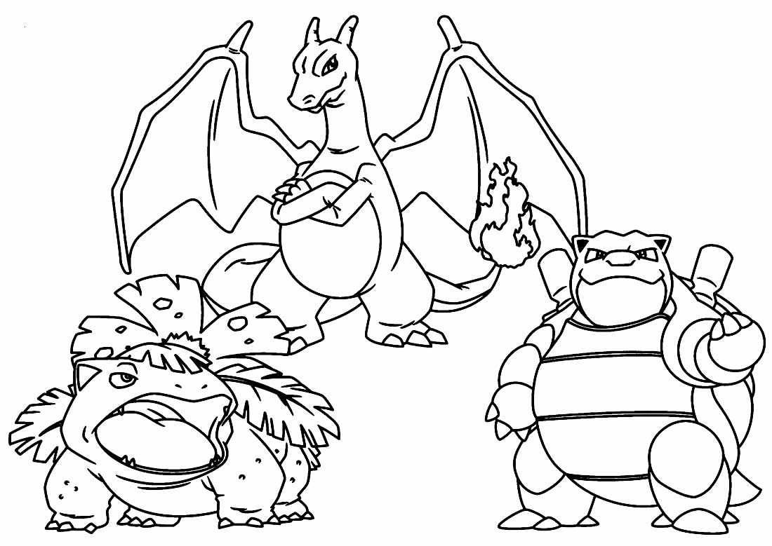 Pokemons to paint