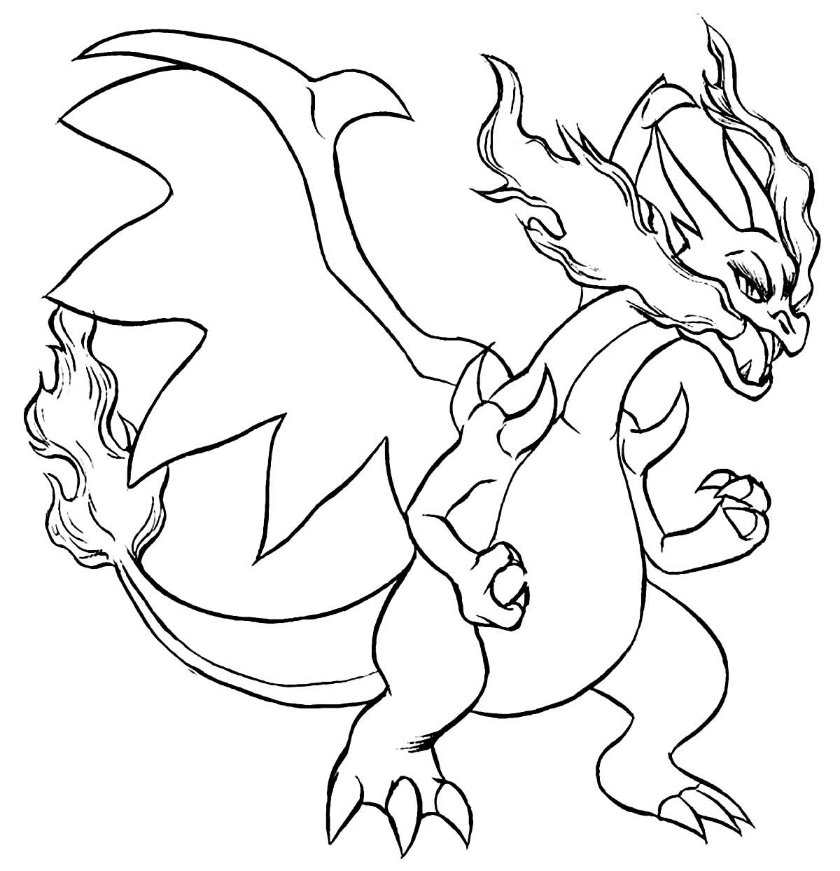 Charizard drawing for coloring