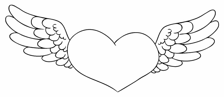 Heart drawing to paint