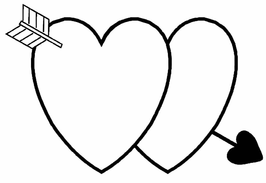 Heart drawings for coloring