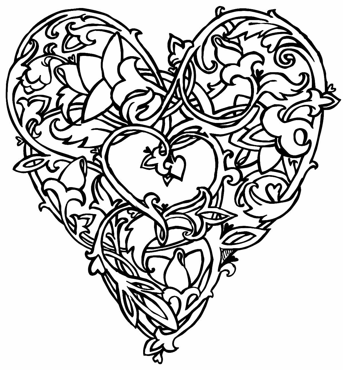 Heart image to paint