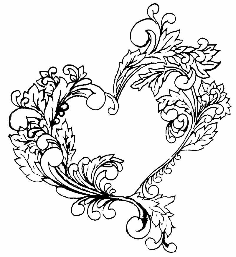 Coloring heart picture