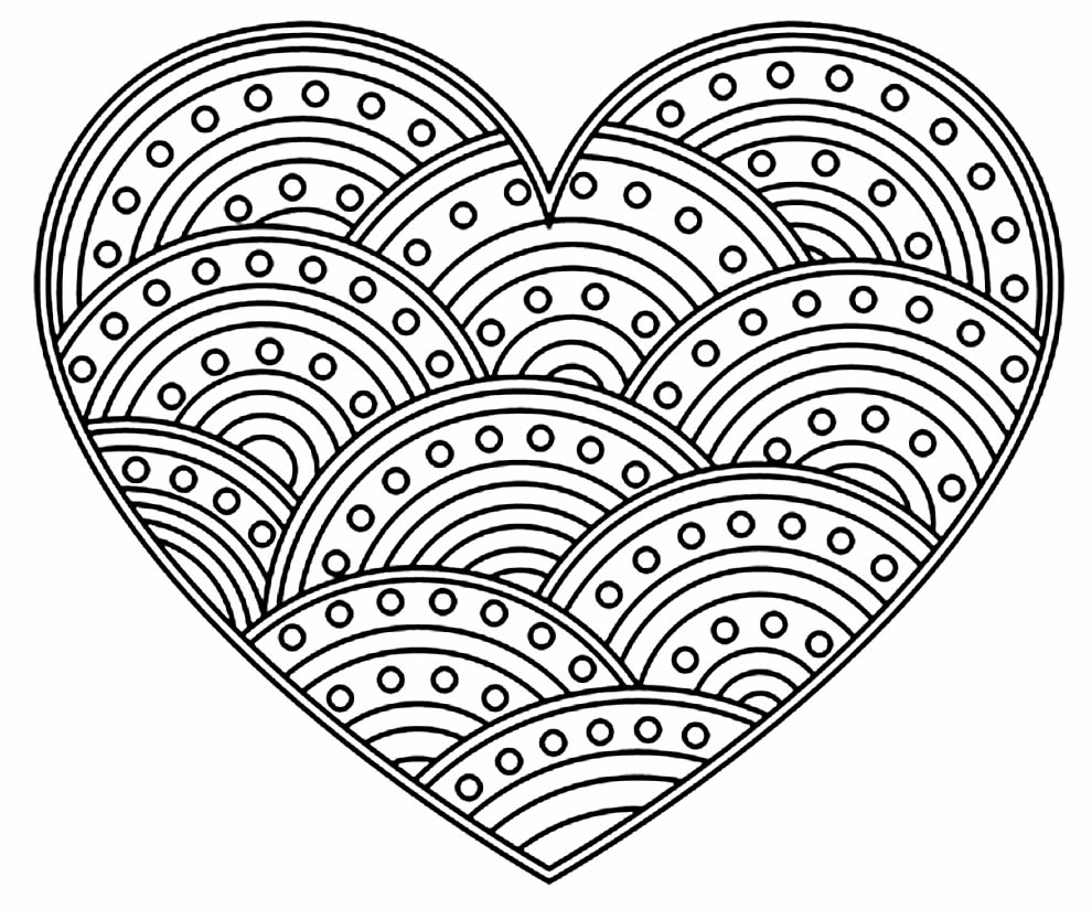 Heart drawing for coloring