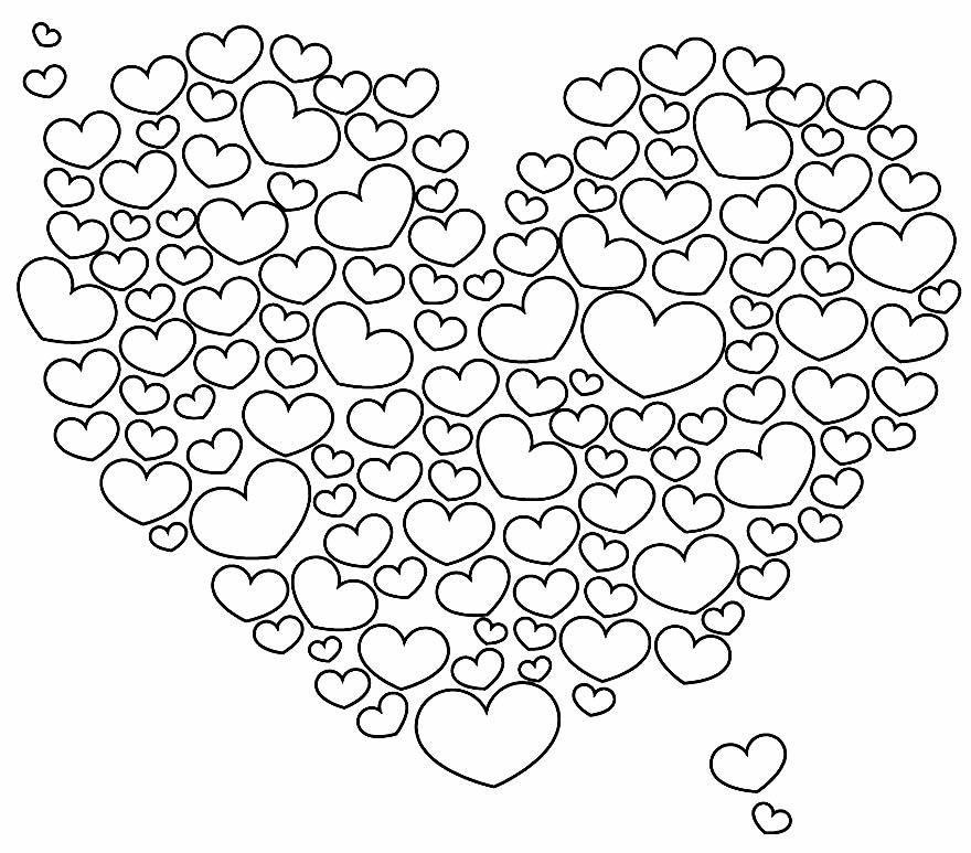 Drawing to paint with hearts