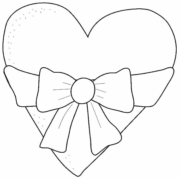 Heart design with bow