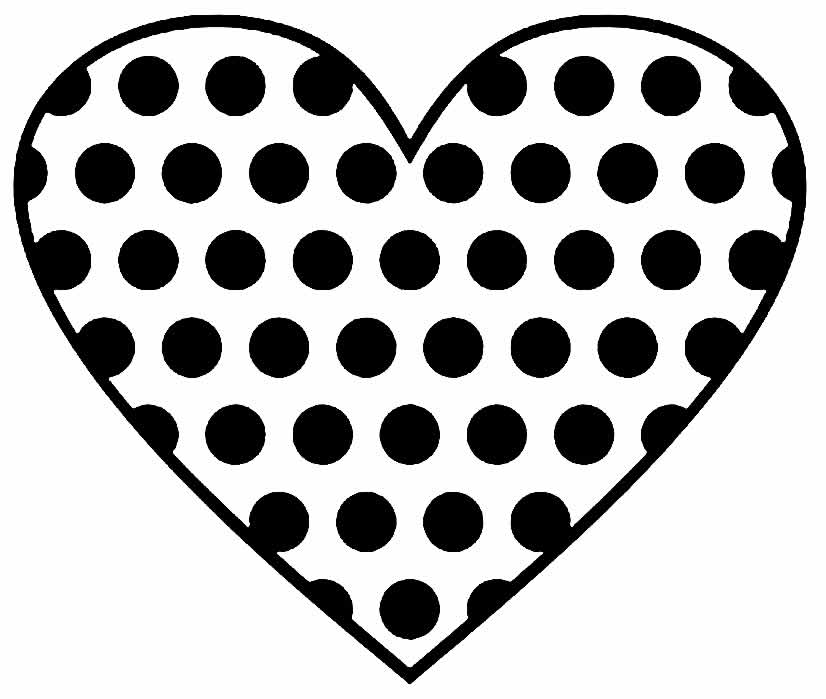 Heart design for printing and coloring