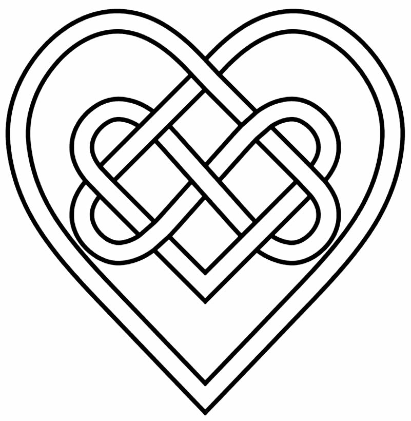 Heart design to print and paint