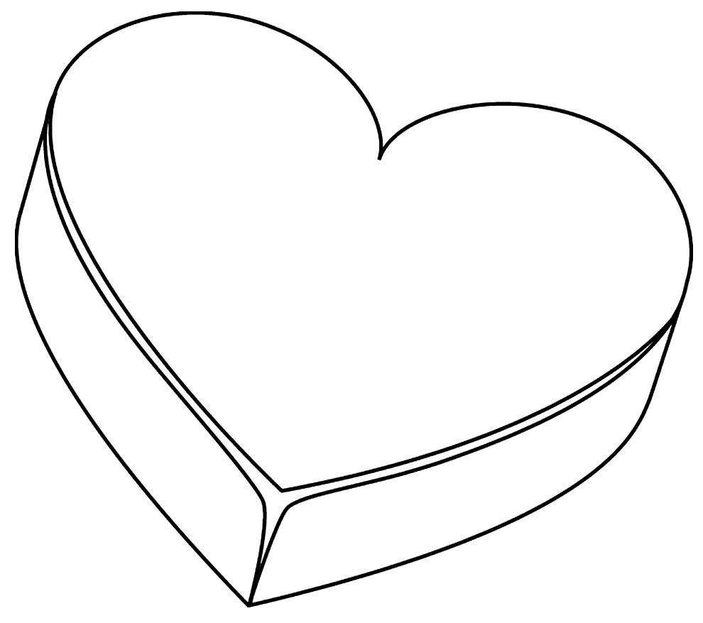 Heart image to print and paint