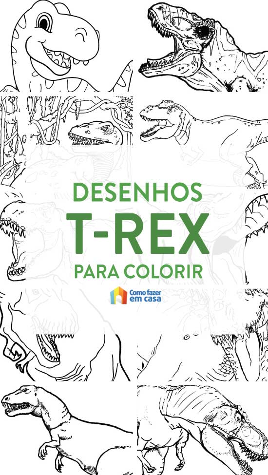 T-Rex drawings for coloring and printing