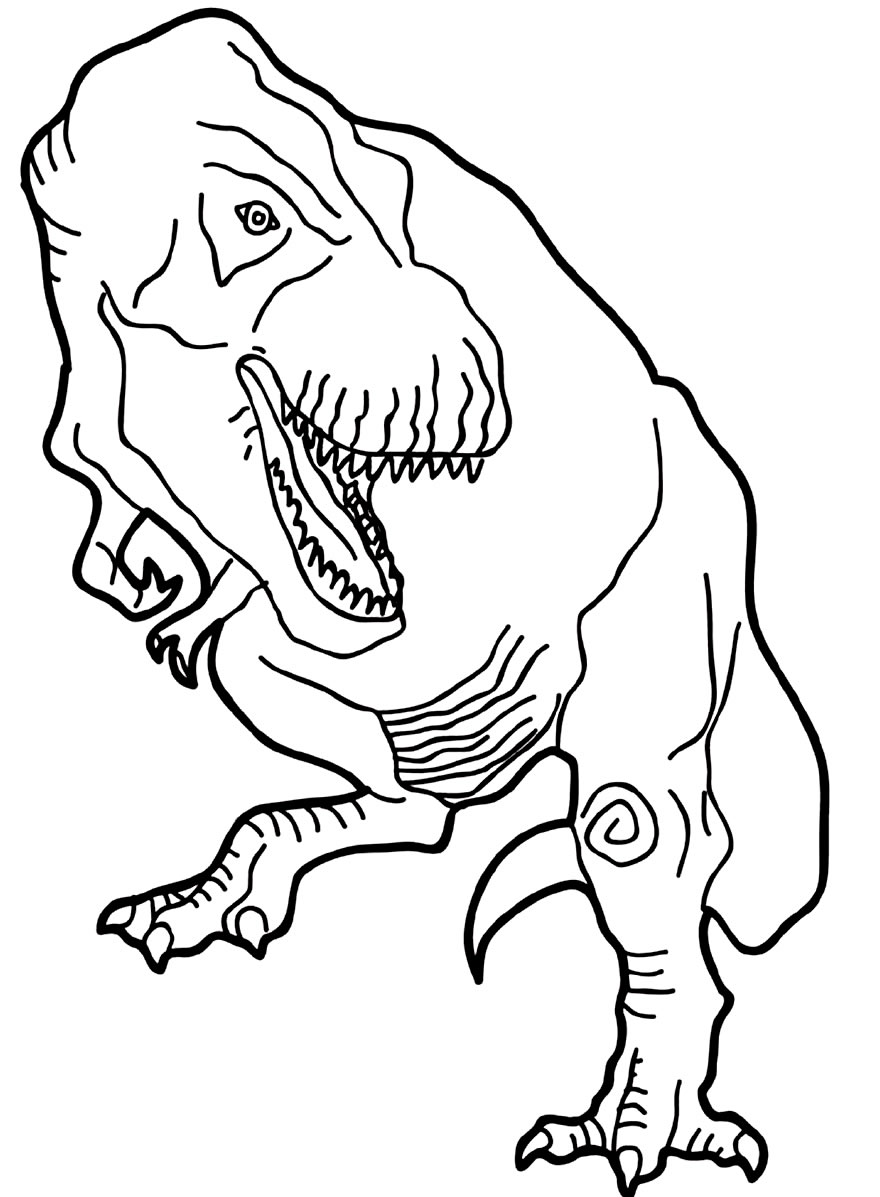 T-Rex template to print