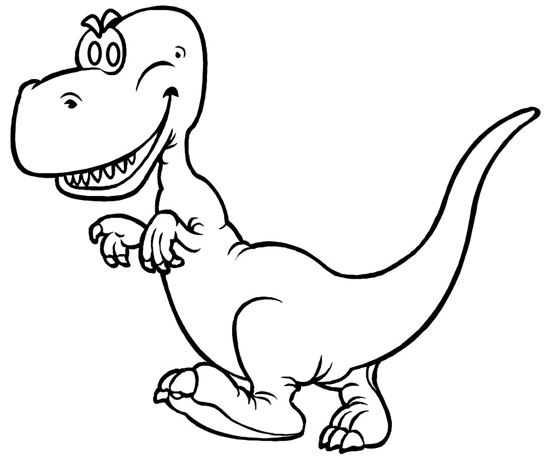 Fun drawing for T-Rex coloring pages