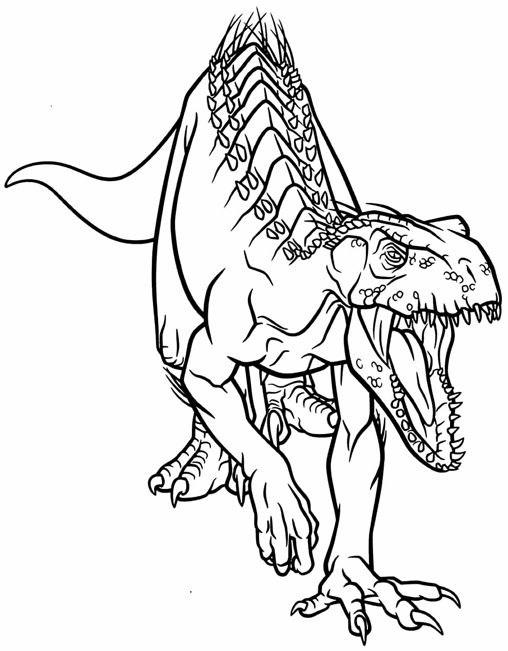 T-Rex drawing to color