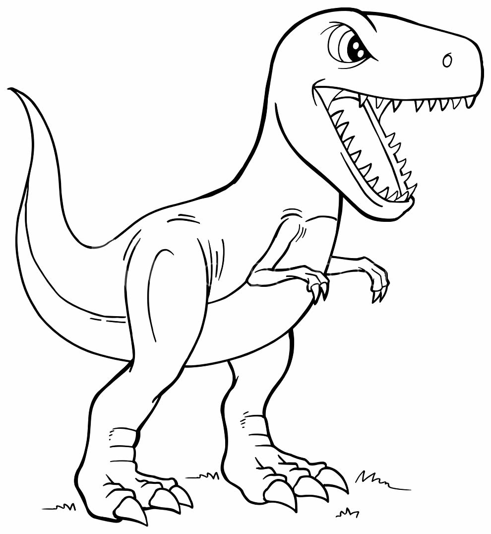 T-Rex drawing to paint