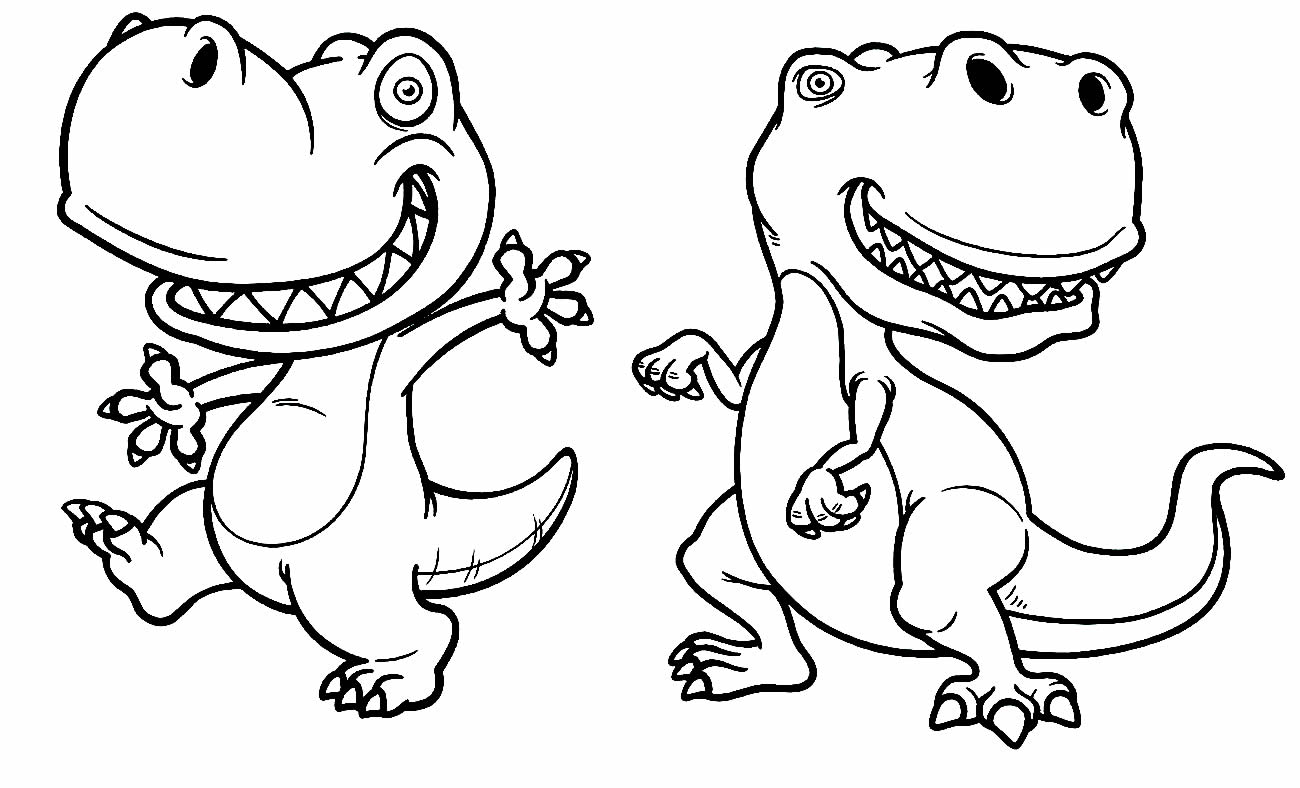T-Rex Dinosaurs coloring page