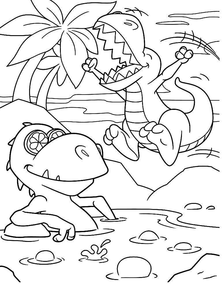 T-Rex image to color