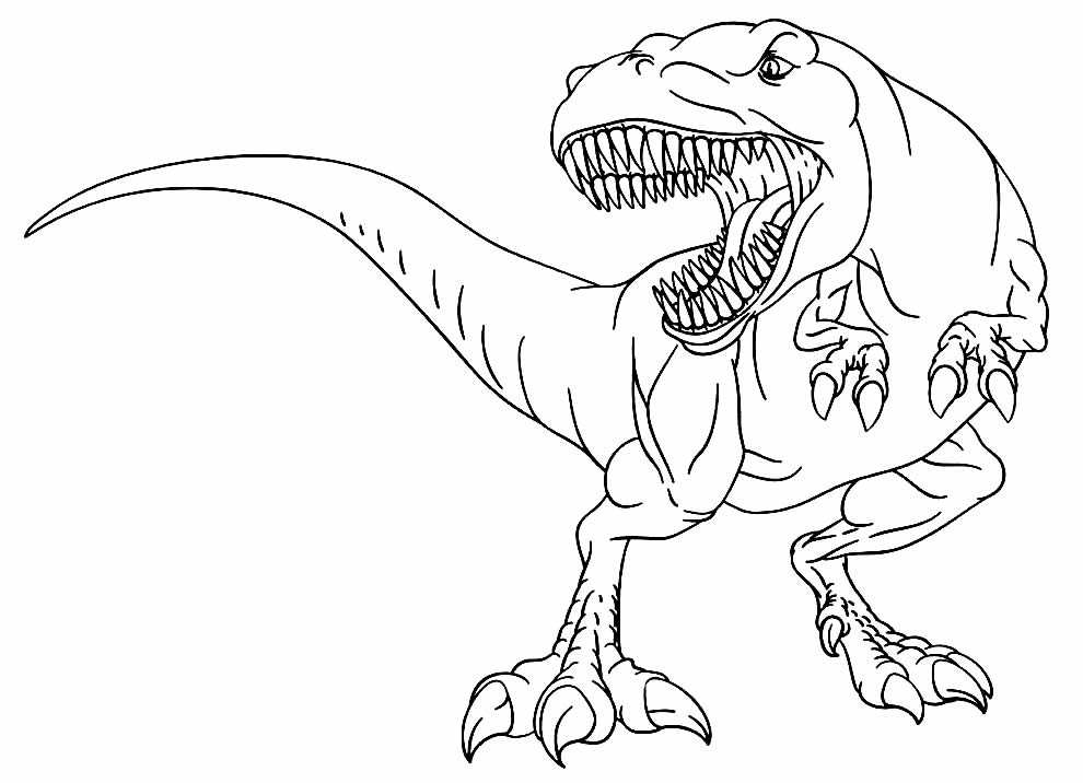 T-Rex image for coloring and painting